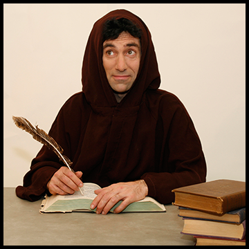 monk writing